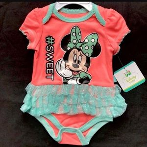 Minnie Mouse Baby Girl Bodysuit Tutu #sweet